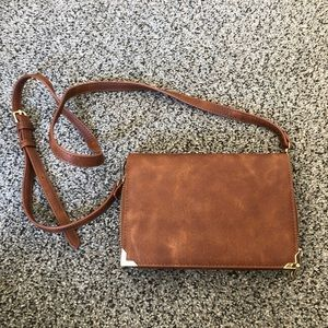 Brown Crossbody with metal detail